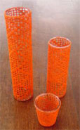 vases with crochet covers
